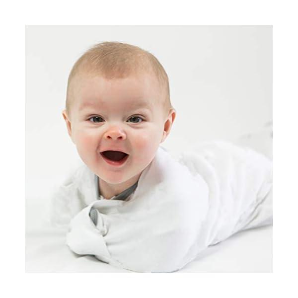 Amazing Baby - Saco de dormir para bebé con brazos, Elefantes pequeños azules, Azul, Medium (3-6 Month) 5