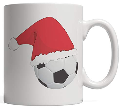 Cute Soccer Ball With Santa Hat For Christmas! - Funny Xmas Mug for Football Sports Player Fan, Coach or Athlete Who Loves To Score Goals Away From The Goalkeeper Screaming Goal! This Winter (Screaming Halloween Mädchen)