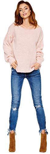 Lemoniade hochwertiger, Warmer Pullover mit tollem Ärmel-Design * Damen Sweater Langarm...