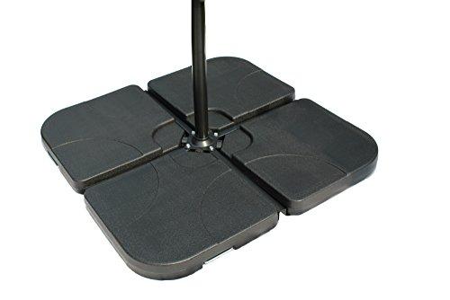 Füllgut Schirmgewichte aus HDPE für Ampelschirme