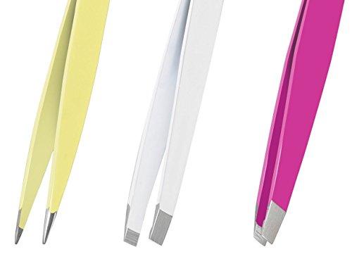GXQS Edelstahl Pinzetten, Augenbrauen Pinzetten Set 4 teilig - verschiedene Pinzetten für Beauty und Feinarbeiten - Präzisionsspitze - 100% Rostfrei