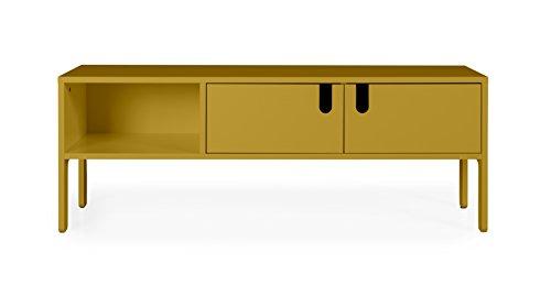 tenzo 8570-029 UNO Designer Banc TV 2 Portes, Moutarde, MDF Particules ép. 19 et 16 mm Panneau arrière laqué. Poignées en matière Plastique, 50 x 137 x 40 (HxLxP)