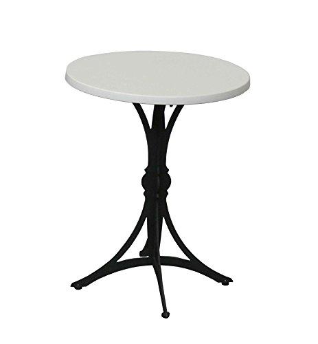 Table Guéridon d'intérieur Bistrot moderne Rd60cm Blanc