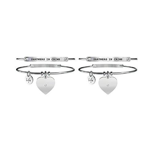 Kidult - bracciale in acciaio 316l e cristallo