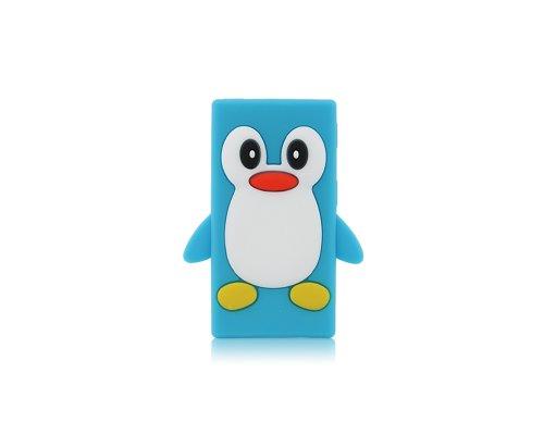 BONAMART ® Cute Pinguin Penguin Soft Gel Silikon Tasche Case Cover Hülle iPod Nano 7 7G 7th Gen Light Blau