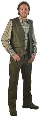 La Chasse | Lederhose aus Büffelleder mit Beintasche für Herren | extrem strapazierfähig | Trachtenhose...