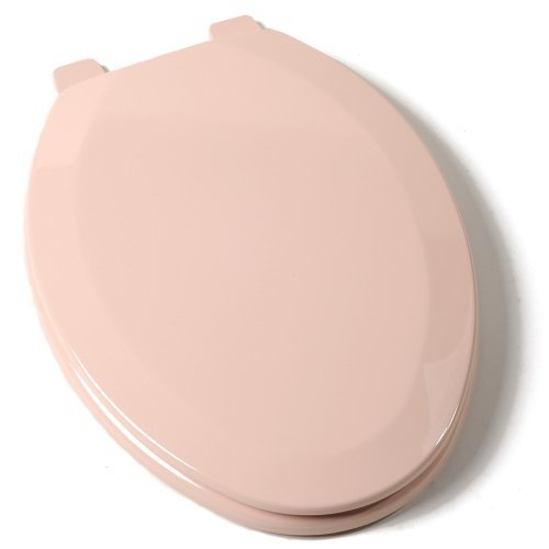 Comfort Seats C1B4E220 Deluxe Molded Wood Toilet Seat, Elongated, Pink by Comfort Seats