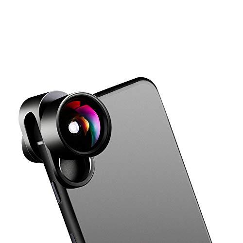 ZHANGXIDP//Leselupen Handy-Objektiv Externe HD-Kamera Weitwinkel-Teleemakro-Fisheye-3-in-One-Universal-SLR-Anzug Handy-Kameraobjektiv Professionelle Telephoto-Kamera-Kamera-Lupe (Color : Black)