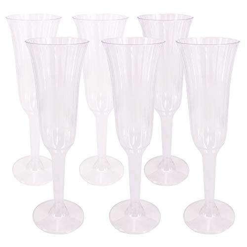 benail 60Stück 5,5OZ klar Kunststoff classicware Glas wie Champagner Hochzeit Parteien anrösten Flöten Party Cocktail Becher