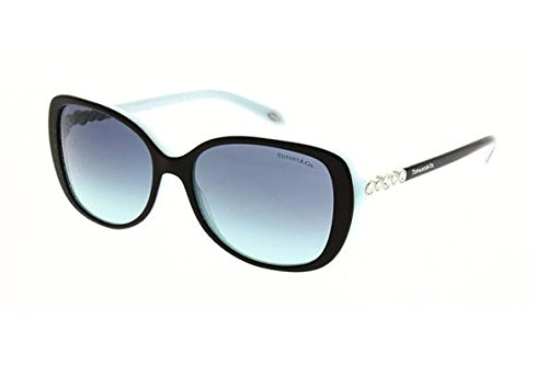 Tiffany 0ty4121b 80559s, occhiali da sole donna, nero (black/blue/blueegradient), 55