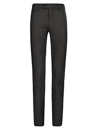 oodji Ultra Homme Pantalon Slim Fit à Taille Réglable Gris (2500O)