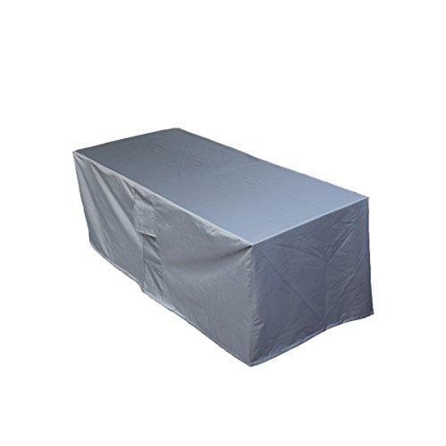 PATIO PLUS Schutzhülle für rechteckig Gartentisch,Wetterschutzhülle für eckige Tische, Sofa, Liege, Stühle Wasserdichtes Atmungsaktives Oxford-Gewebe Gartenmöbel Abdeckung(170x95x70cm,Anthracite)