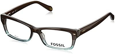 Fossil - FOS 6066, Geométrico, acetato, mujer, BROWN SHADED GREEN(RRB), 52/15/135