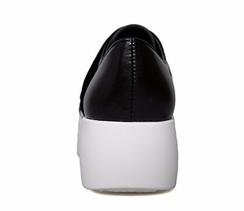 Nouveau Zebre Glissement Decontracte Sur La Plate-Forme De Chaussures Femmes Occasionnels Chaussures Espadrilles Loafers Zebra noir