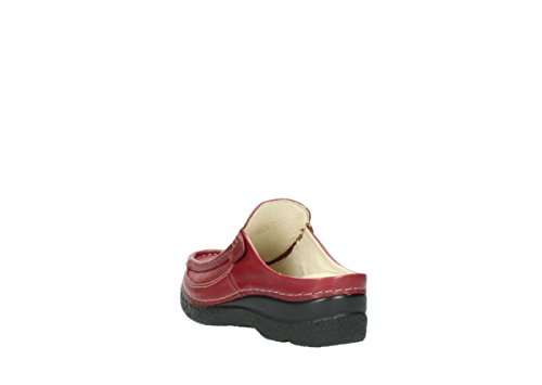 Wolky Sandales Confort 06202Rouleau Slide 30510 bordeaux leather