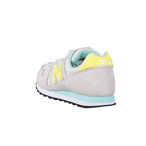 New Balance 487651 50, Baskets Basses Femme Gris/Jaune