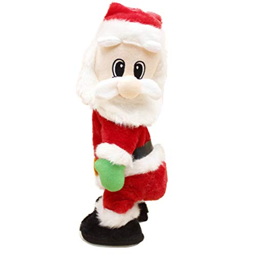 Bestoyard babbo natale che canta e balla elettrico con musica twisted hip per regalo natalizio (senza batteria)