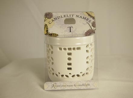 History & Heraldry Candlelit Names - T - Tea Light Lite Candle 001850210-HH by History & Heraldry