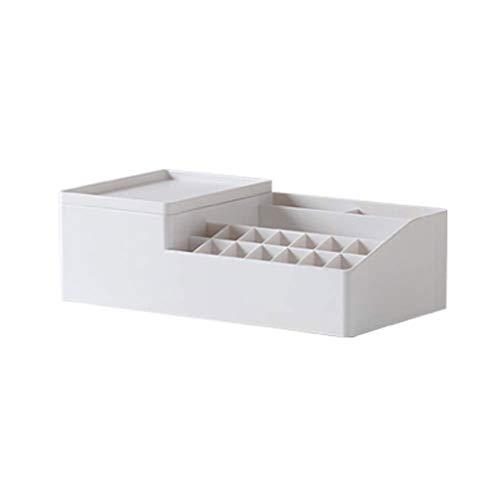 RANRANJJ Kosmetische Aufbewahrungsbox Organizer Fächer zum Organisieren und Aufbewahren Ihrer Kosmetik Make-up und Zubehör Wird ordentlich auf Eitelkeit oder Badezimmer Countertop sitzen - Badezimmer-eitelkeit-sitz