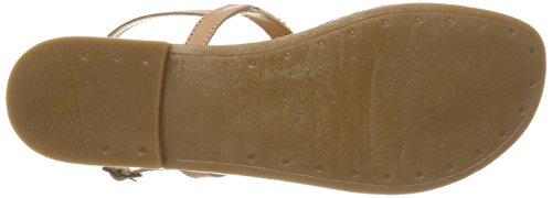 PIECES Pscarmen Leather Sandal, Infradito Donna Beige (Nude)