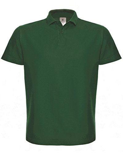 B & C ID. 001 Polo Grün - Bottle Green