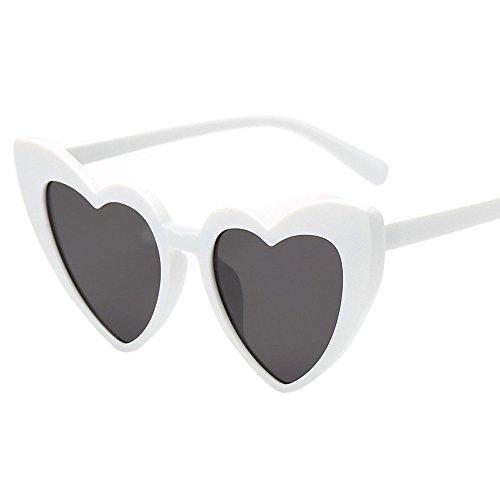Jaysis Damen-Retro-Mode herzförmige Sonnenbrille integrierte UV-Brillesonnenbrille ringe toy favors supplies taschenfüller klassenzimmerpreis, pinata neon farben gefälligkeiten set kinder erwachsene