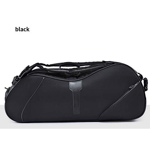 Ai 88 Thermo Tennisschlägertasche, Tennistasche für bis zu 6 Schläger, Tennisschläger Tasche Kinder, Damen & Herren, Schlägertasche mit 2 oder 3 Fächern,Black -