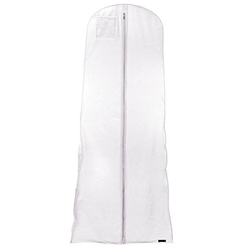 Hangerworld - Elegante Kleiderhülle für Abendkleider, Wasserabweisend - Rosé-Weiß - 183cm