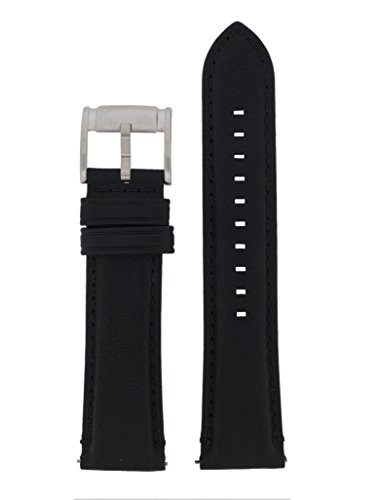 Fossil Uhrband Wechselarmband LB-ME3053 Original Ersatzband ME 3053 Uhrenarmband Leder 22 mm Schwarz