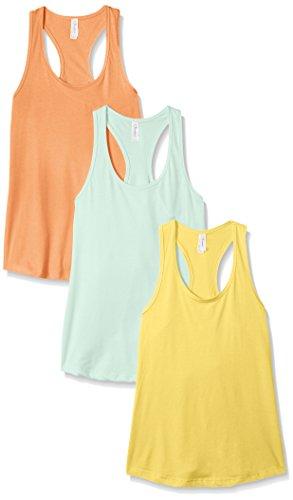 Dancer Light T-shirt (Unbekannt Clementine Damen Petite Plus ideal Racerback Ärmellos Tank (Pack von 3) XX-Large Banana Yellow/Light Orange/Mint)