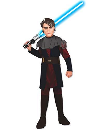 Star Kinder Clone Wars Kostüm - Star Wars Clone Wars Anakin Skywalker Kostüm Kinder Kinderkostüm Karneval 8-10 Jahre