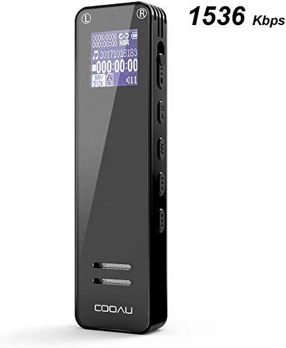 Digital Voice Recorder, COOAU 15...