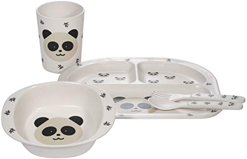 Kindsgut Kinder-Geschirr, Besteck, Panda