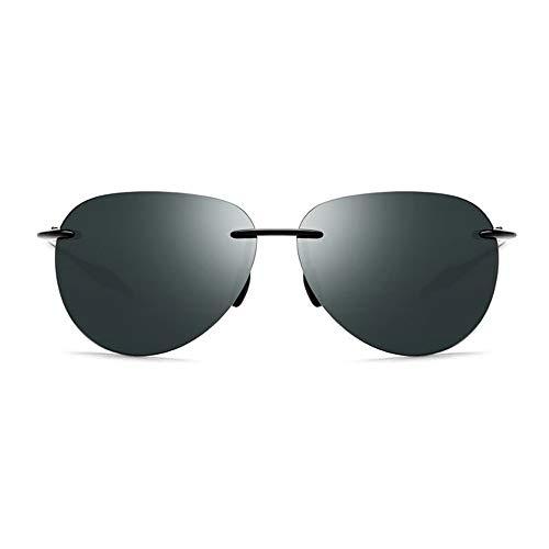WULE-Sunglasses Unisex Borderless Fahrerschutzbrille for Herren Cool Tide TR90 Brille UV400-Schutz for Damen Ultraleichte Sonnenbrille (Farbe : Green)