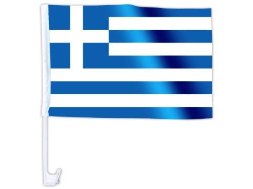 Bandierina per la macchina bandiera decorazione macchina tifosi calcio paese internazionale europei mondiali coppa europa sintetico estate festa eventi spettacolo, AFL-01-18:Grecia