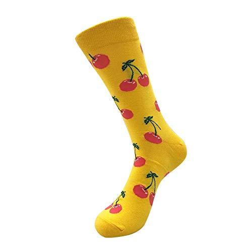 UJUNAOR Unisex Socken Midrohrsocken Süßes Frucht Drucken Strümpfe Damen Herren Baumwollesocken(A,One size)