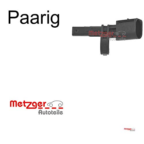 2x Metzger Set Sensor, Raddrehzahl Ha Li+re