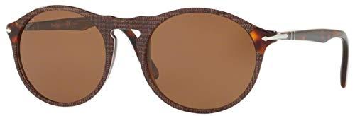 Ray-Ban Herren 0PO3204SM Sonnenbrille, Mehrfarbig (P. Galles Brown), 51.0