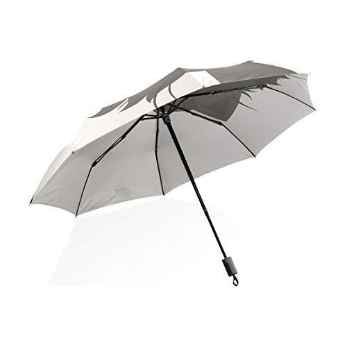 Isaoa Automatique Voyage Parapluie Pliable Compact Parapluie Cute Grumpy Cat Coupe-Vent Ultra léger Protection UV Parapluie pour Homme ou Femme