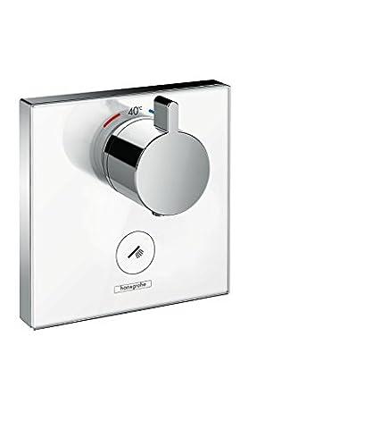 hansgrohe ShowerSelect Glas Unterputz Highflow-Thermostat, 1 Verbraucher mit zusätzlichem Abgang,