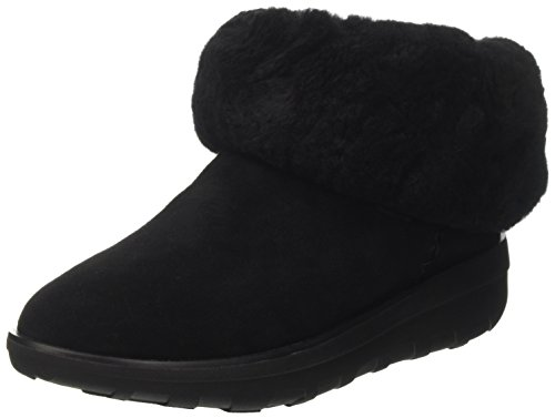 FitFlop Damen Supercush Mukloaff Tm Shorty Gymnastikschuhe, Schwarz (All Black 090), 41 EU - Gefaltet Ankle Boots