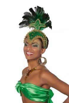 Hut Samba, Grün (Karneval Samba Brasilianische Kostüme)