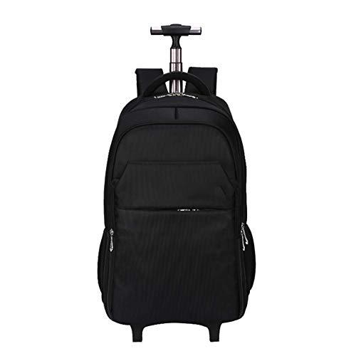 DYYTR Super Leichte Geschäftsreise Rollende Laptop-PC-Tablet-Computer-Trolley Rucksack Koffer Hand Gepäck Kabine Zugelassene Tasche Case-Veranstalter Mit Übernachtungs Fach -