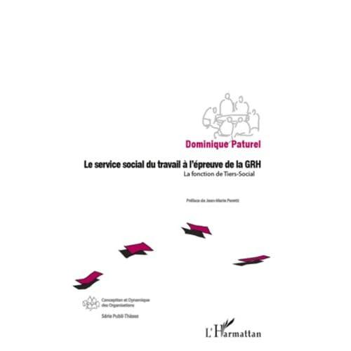 Le service social du travail à l'épreuve de la GRH: La fonction de Tiers-Social (Conception et dynamique des organisations)