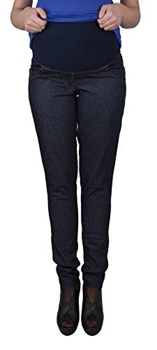 Mija – Jean Pantalon élégant de maternité Denim 9044 Foncé Bleu