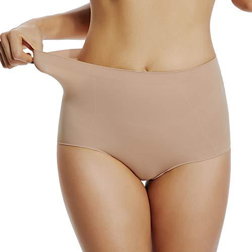 Joyshaper Pantys Weiche Damen Unterhosen Atmungsaktive Taillenslip Hoher Taille Unterwäsche für  Jeans Yogahosen und alle Kleidungsart, Hautfarbe, L -