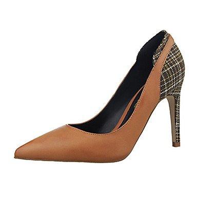 Moda Donna Sandali Sexy donna tacchi tacchi estate pu Casual Stiletto Heel altri Nero / Marrone / rosso / bianco / Khaki Altri Red