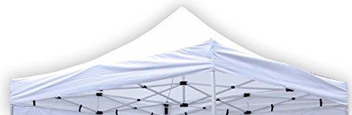 Nexos Pavillondach Ersatzdach für Profi Falt-Pavillon 3x3m - Dachplane 270g/m² 300D PVC-Coating versiegelte Nähte wasserdicht - Farbe: weiß