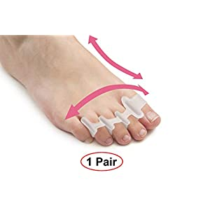 Toe Separators for Bunion Corrector Plantar Fasciitis Hammer Toes Yoga Sports – Original Gel Toe Spacers Stretchers Straightener Spreaders pads – Small Toe Protectors For Men Women – Stop Foot Pain