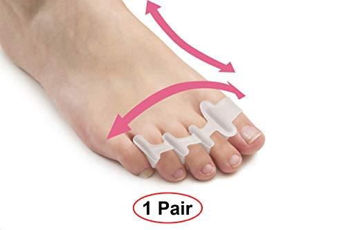 Toe Separators for Bunion Corrector Plantar Fasciitis Hammer Toes Yoga Sports - Original Gel Toe Spacers Stretchers Straightener Spreaders pads - Small Toe Protectors For Men Women - Stop Foot Pain preisvergleich